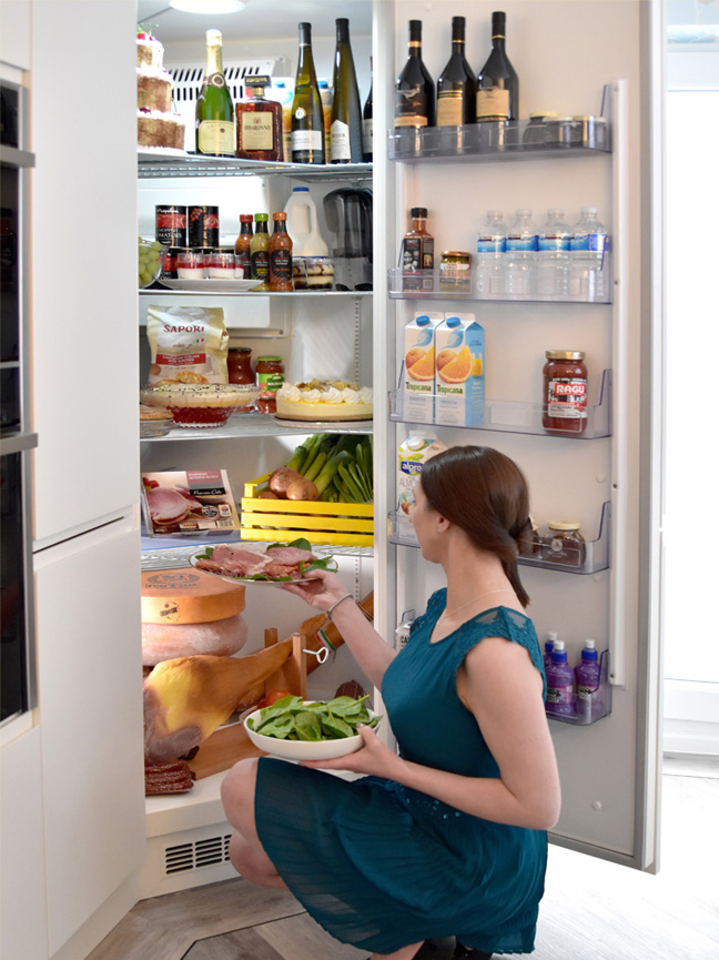 Corner Fridge Full Height Integrated Stand Alone Made To Measure
