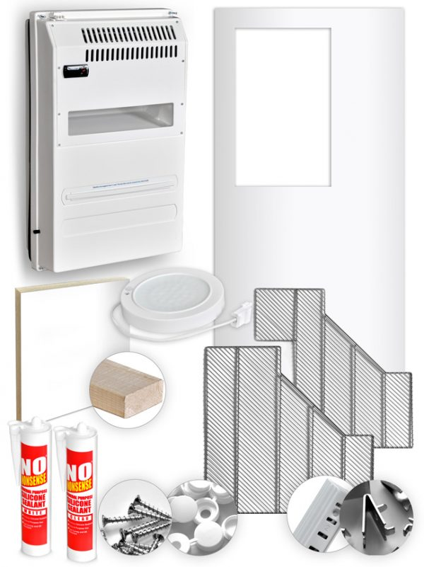 Conversion kit from corner fridge company