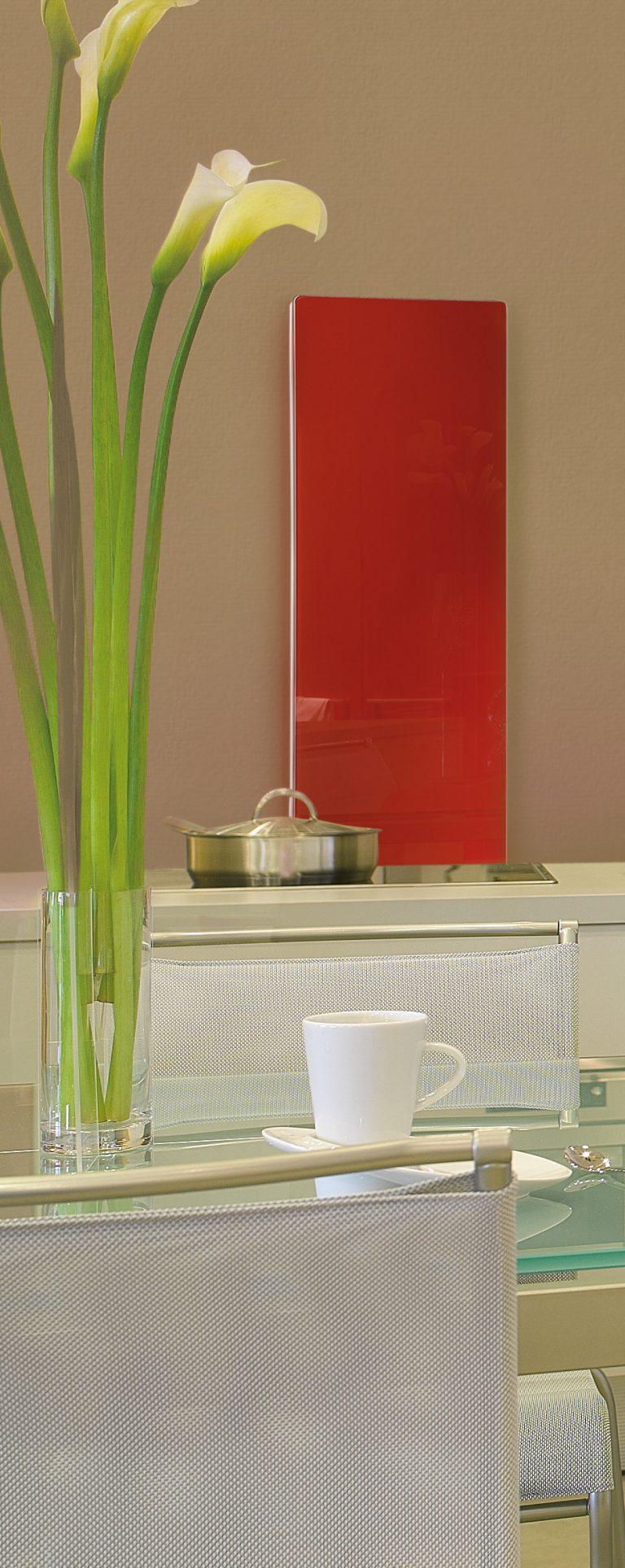 Solaris Glass Radiator Red
