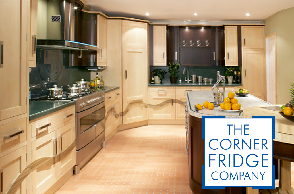 Bespoke Kitchen from Corner Fridge Company with CF Logo at the bottom right