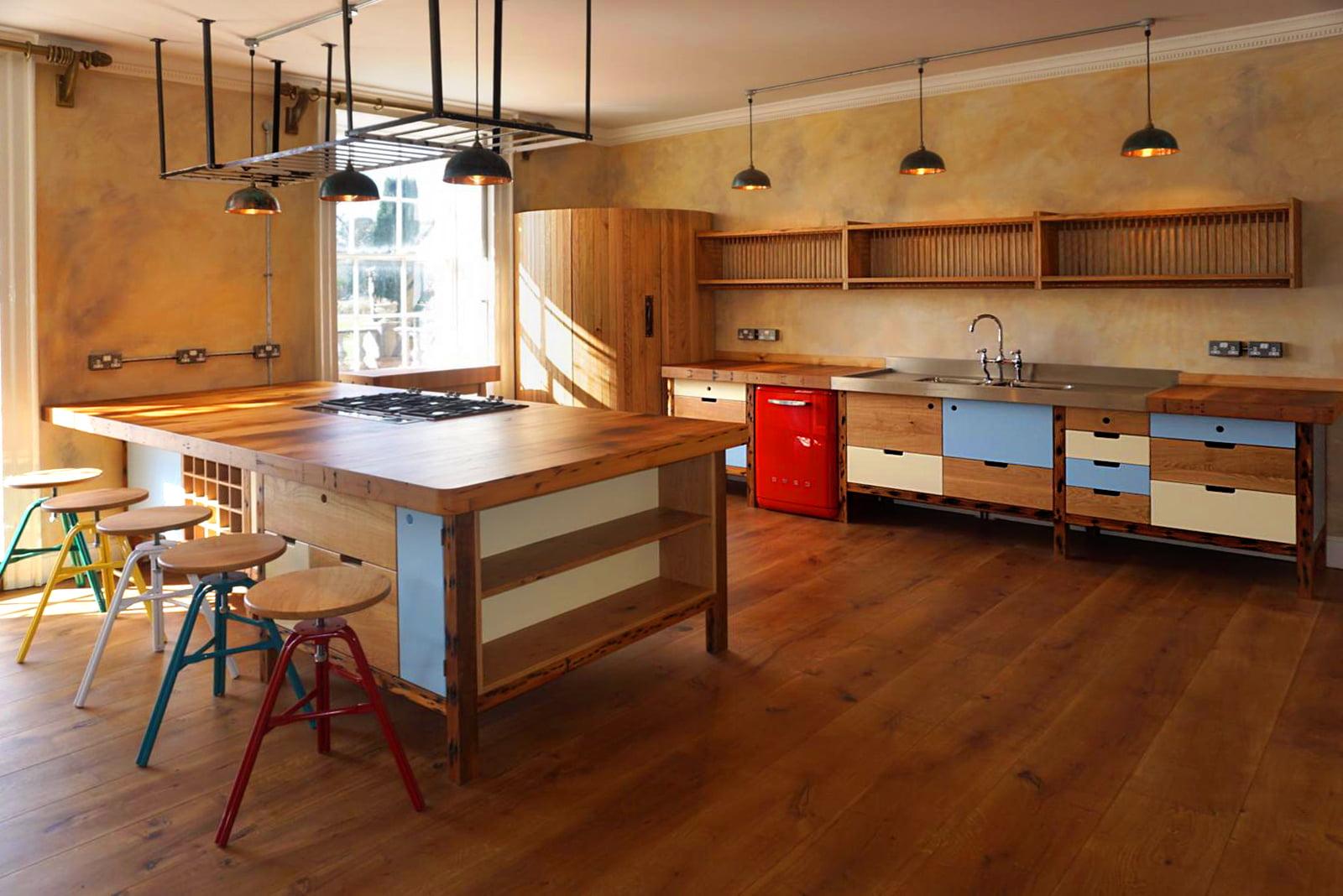 Round Corner Fridge in Kitchen